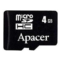 SDHC-micro Card 4Gb Apacer Class 4 AP4GMCSH42A-R + 2 adapters