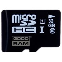 SDHC-micro Card 32Gb Goodram SDU32GHCUHS1AGRR10 + Adaptor Class 10