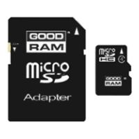 SDHC-micro Card 4Gb Goodram SDU4GHCAGRR10 Class 10 + adapter