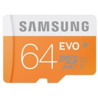 SDHC-micro Card 64Gb Samsung EVO Class 10/U1 (MB-MP64DA/RU) + SD adapter