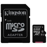 SDHC-micro Card 64GB Kingston Class 10 SDCS/64GB Canvas Select + adapter
