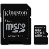SDHC-micro Card 16GB Kingston Class 10 SDCS/16GB Canvas Select + Adapter