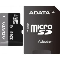 SDHC-micro Card 32GB A-Data AUSDH32GUICL10-RA1 Class 10 UHS-I + SD Adapter